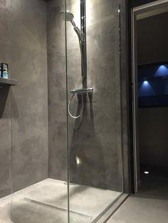 meuble de salle de bain beton cire atria vue ensemble salle de bain pinterest - Salle De Bains Beton Cire