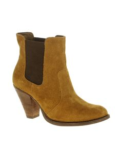 ASOS AJAY Suede Chelsea Western Ankle Boots