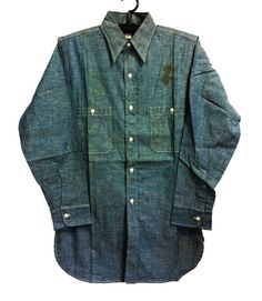 Vtg.50's WASHINGTON DEE CEE CHAMBRAY SHIRT SZ.14.5 DEADSTOCK