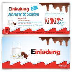 #Hochzeitseinladung für Schleckermäuler <3 #hochzeit #papeterie #einladung #feiern #schokolade