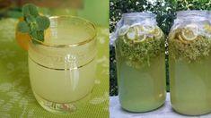 Bezová limonáda léčí bolest břicha, odstraní migrénu a vyplaví z těla všechno zlé: Takto jednoduše si ji připravíte doma! Korn, Glass Of Milk, Ale, Mason Jars, Pudding, Drinks, Healthy, Lemon, Liquor