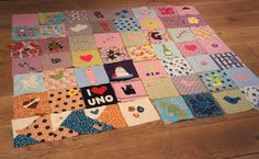 Finished quilt from Makedomend hen party waiting to be sewn