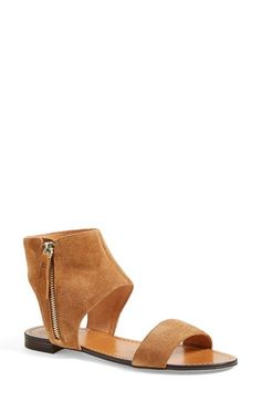 Free shipping and returns on Vince Camuto 'Myzer' Ankle Cuff Sandal (Women) at Nordstrom.com. A modern suede sandal goes a little boho with an exposed zip and soft suede. The ankle cuff silhouette is ultra-flattering and easy to pair.