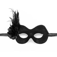 Black Lace Masquerade Mask With Feathers- Venetian Style Prom Mask... (51 CAD) ❤ liked on Polyvore featuring costumes, mask, masquerade, masquerade costume, womens halloween costumes, party costumes, womens costumes and masquerade halloween costume