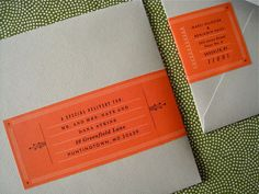 Created by Erin Jang - A Clever Way of Doing Mailing Labels for Invitations.