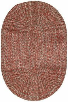 """By Capel Mill Creek Potters Clay Rugs 24"""" x 36"""" by Capel. $52.00. 100% Reversible.. Woodrun braids are made in the USA.. Hose off and hang in sun to dry.. Construction: Braided.. Collection: Mill Creek.. By Capel Mill Creek Potters Clay Rugs 24"""" x 36"""""""