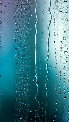 水滴が垂れるガラス iPhone6 Plus壁紙