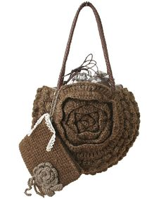 crochet flower motif bag