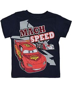 Love this Cars Navy 'Mach Speed' Tee - Infant by Children's Apparel Network on Disney Outfits, Boy Outfits, Disney Clothes, Baby Boy T Shirt, Baby Boys, Boys Pajamas, Disney Cars, Cartoon Kids, Boys Shirts