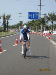 Long time in the sun to finish the bike course. 180km done, now onto the marathon!