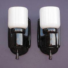1000 Images About Vintage Bathroom Light Fixtures On Pinterest White Porce