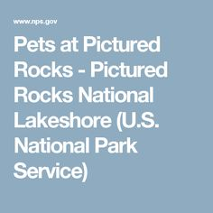 Pets at Pictured Rocks - Pictured Rocks National Lakeshore (U.S. National Park Service)