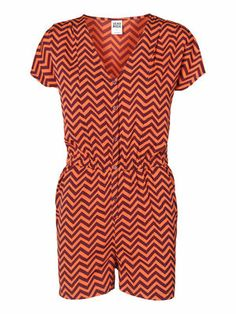 @VERO MODA #Graphic # sun day  ZIGGI S/S PLAYSUIT, Fig, main would be cool in black&white. right?