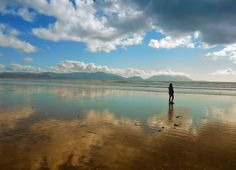 Alone on the Inch-Beach (Ireland) Inch Beach, Mountains, Water, Travel, Outdoor, Ireland, Island, Gripe Water, Outdoors