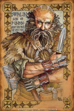 Hobbit Illumination: Dwalin, by Soni Alcorn-Hender