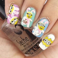 just_alexi easter minions #nail #nails #nailart