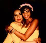 Sade with her daughter Ila
