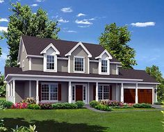 Country Home with Wrap-Around Porch - 57304HA | Country, Farmhouse, Traditional, 2nd Floor Master Suite, Butler Walk-in Pantry, CAD Available, Loft, PDF, Wrap Around Porch | Architectural Designs