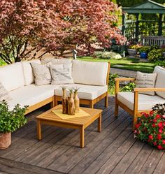 Furnish your deck or patio with accessories and designs that add comfort and style to outdoor living. Here are 30 suggestions to get you started.