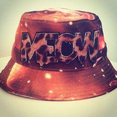 917723cfcb3 Orange Cosmic Bucket Hat by ALIENSofBROOKLYN on Etsy