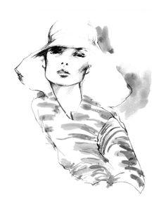 "Fashion Illustrator. Myrtle Quillamor, ""At Last."" Fashion Illustration."