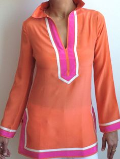 Orange Silk Tunic!
