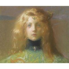 Lucien-Victor Guirand de Scévola (1871-1950). Jeune fille de face. 1899.