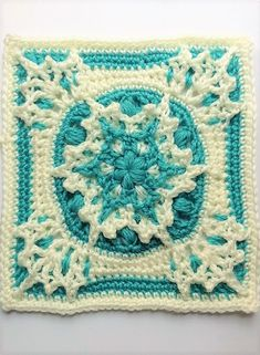 [Free Pattern] This Blizzard Warning 9 Inch Square Is Absolutely Gorgeous