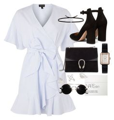 """""""Untitled #1479"""" by leylasstyle ❤ liked on Polyvore featuring Topshop, Gianvito Rossi, Chanel, Gucci, NARS Cosmetics and Ileana Makri"""