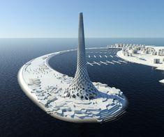 Urban Art Projects - KAUST Breakwater Beacon, King Abdullah University of Science and Technology, Saudi Arabia
