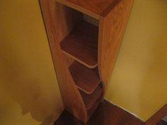 Handmade Solid Oak Corner Shelf with a Twist by WoodCurve on Etsy, $399.99