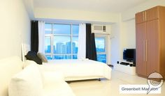 What do you think of that incredible view? This studio unit in Makati City's Greenbelt Madison is 36sqm and is completely furnished, so all it really needs is for you to move in. See the price:  http://www.myproperty.ph/properties-for-sale/condos/makaticity-manila/2-studio-units-fully-furnished-for-sale-greenbelt-madison-659935?utm_source=pinterest&utm_medium=social&utm_campaign=listing#1 #Philippines #RealEstate