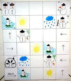 Schneemannspiel - Weihnachten-basteln - Meine Enkel und ich