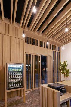 Pressed Juicery - Bookmarc Online Juice Bar Interior, Restaurants, Retail Facade, Interior And Exterior, Interior Design, Retail Store Design, Shop Interiors, Restaurant Interiors, Tents