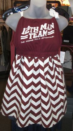 Love the chevron...little hint of The Fightin Texas Aggie Band!