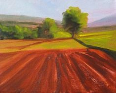Original Landscape Oil Painting Farm Field by smallimpressions, $100.00