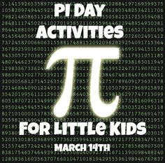 The Best Pi Day Activites for Little Kids