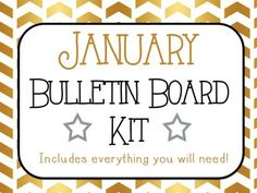 Bulletin Board made easy! With the holiday break you will love having your bulletin board prepped for you when you return back to school! $3