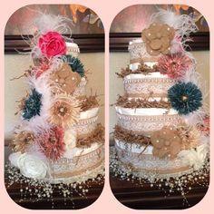 Shabby Chic diaper cake By Gina
