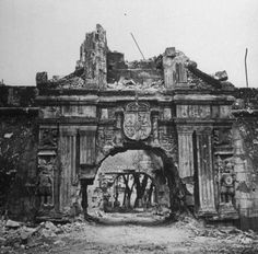 The ruins of Manila; Second only to the Battle of Stalingrad, the Battle of Manila saw the worst urban warfare of the Second World War, with house for house being fought for and civilians slaughtered. Fort Santiago, Battle Of Stalingrad, Evil Empire, Total War, History Projects, American War, World War Two, Ww2, Past