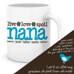 personalized coffee mug grandma nana mug custom with by zoeysattic