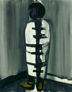 'Straitjacket' - 1993 - by Marlene Dumas (South African, b. 1953) - Oil on canvas - 90x70cm. - @~ Mlle