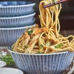 Peanut Sesame Noodles with Sriracha
