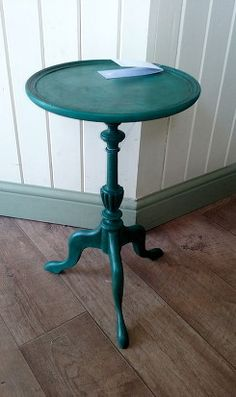 Little wine table painted in Annie Sloan Florence