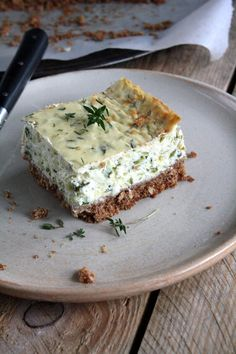 Cheesecake au thym et courgette {battle food - My CMS Vegetarian Appetizers, Appetizer Recipes, Vegetarian Recipes, Savory Cheesecake, Cheesecake Recipes, Easy Cooking, Cooking Time, Food Porn, Salty Foods