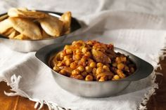 Indian chickpea curry, a healthy vegetarian recipe.