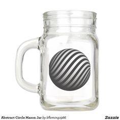 Abstract Circle Mason Jar