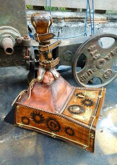 Bard & Jester Special Design. - Car Manual Gear Box Cover (Specially designed for SteamPunk Saab).  Check more