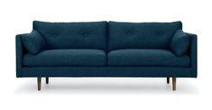 Twilight Blue 3 Seater Fabric Sofa   Anton   Article Mid Century Modern Sofa, Mid Century Sofa, Tan Sofa, Sofa Bed, Furniture Packages, Green Sofa, Scandinavian Furniture, Contemporary Sofa, Design Your Home