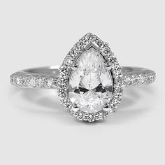 18K White Gold Fancy Halo Diamond Ring | Brilliant Earth - beyond conflict free diamonds